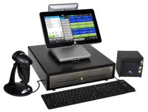 Tablet POS system with cash drawer