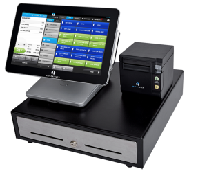 Our Echo and other tablet POS systems come with cash drawer and printer.