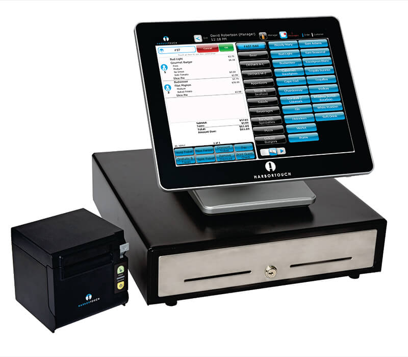 Restaurant POS with cash drawer