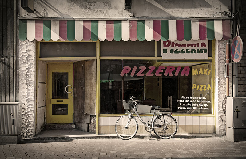 Pizzeria storefront for POS system