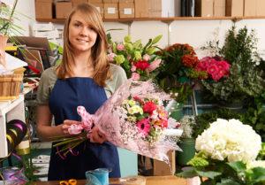 Merchant account for flower shop.