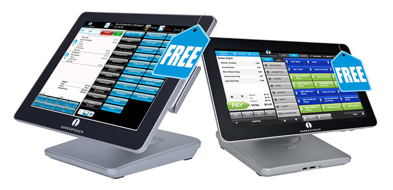 Harbortouch Elite POS and Harbortouch Echo POS facing as part of Jon Taffer announcement