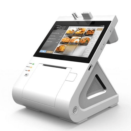 side view of the cash discount take charge pos system.